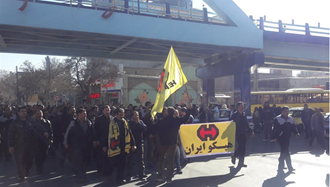 تجمع اعتراضی کارگران هپکو اراک - عکس از آرشیو