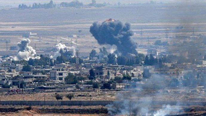 حملات ترکیه به مناطق کردهای سوریه