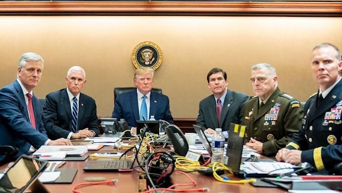 ستاد دونالد ترامپ رئیس جمهور آمریکا در عملیات علیه ابوبکر البغدادی