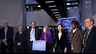 کنفرانس مطبوعاتی – پارلمان اروپا- استراسبورگ ۱ آبان۹۸