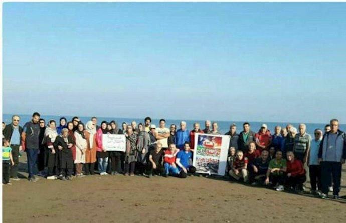 بابلسر.تکمیلی تجمع اعتراضی نسبت به طرح انتقال آب دریاچه خزر
