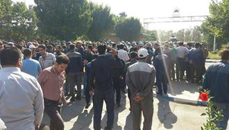 اراک. اعتصاب کارگران آذرآب در محاصره گارد ضدشورش رژیم - ۱۷مهر۹۸