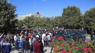 تجمع اعتراضی  کارگران آذرآب اراک - ۱۵مهر۹۸