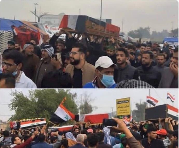 تشییع جنازه شهیدان شهر نجف