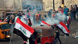 جوانان عراق، بغداد را به صحنه جنگ و رویارویی با دستنشاندگان حکومت آخوندی تبدیل کردند