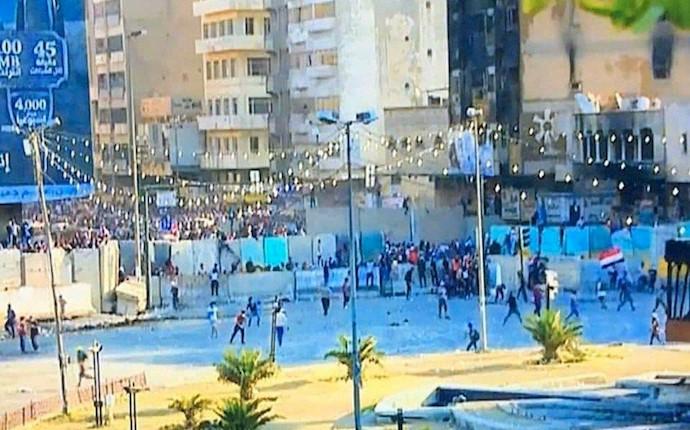 میدان خلانی در بغداد امروز ۲۴ابان۹۸