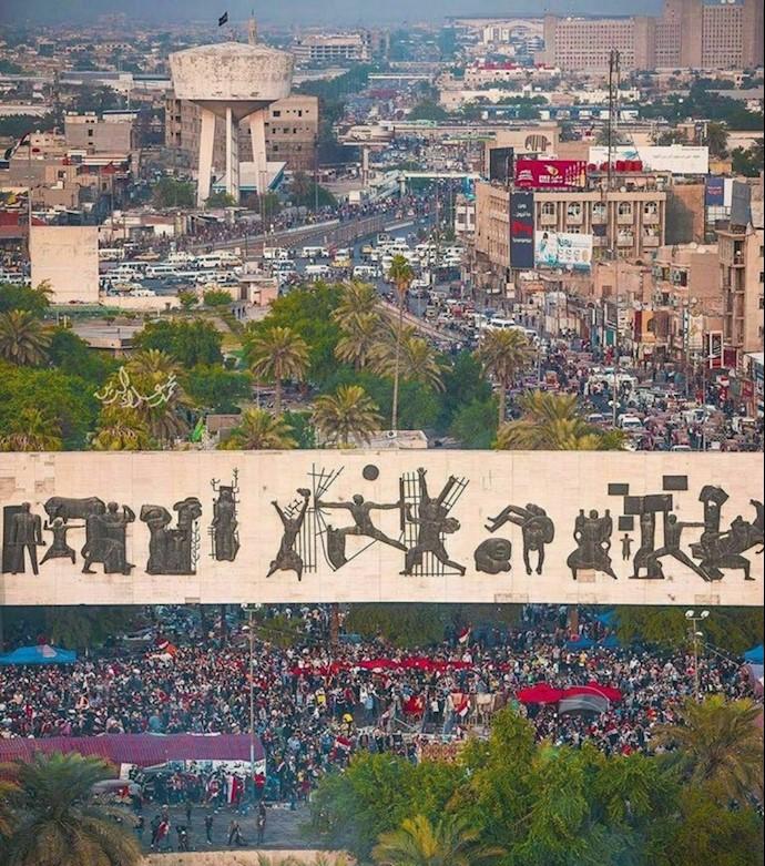 تصویری از میدان تحریر بغداد