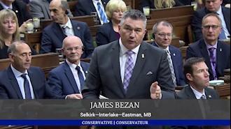 اجلاس رسمی پارلمان کانادا – حمایت جیمز بزن از قیام ایران