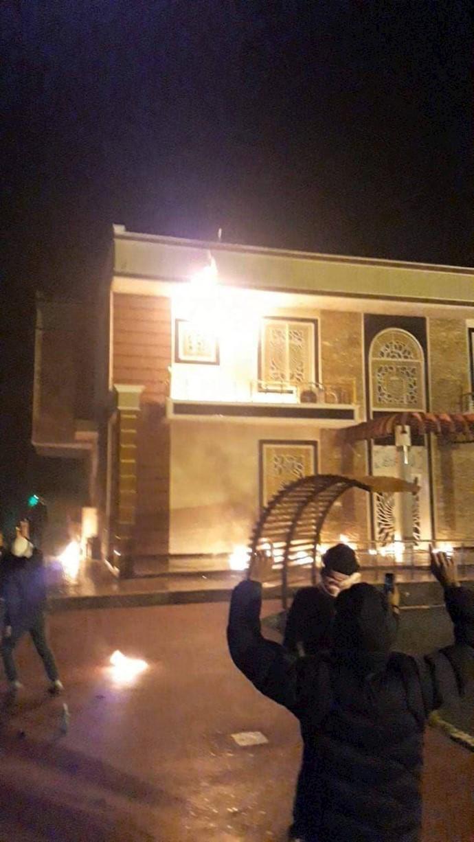 بهآتش کشیدن منزل رئیس پلیس سابق دیوانیه سرلشکر فرقد العیساوی