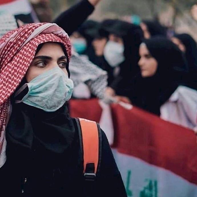زنان عراقی در تظاهرات شرکت دارند