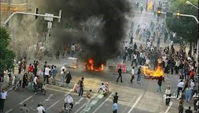 تظاهرات علیه گرانی بنزین.