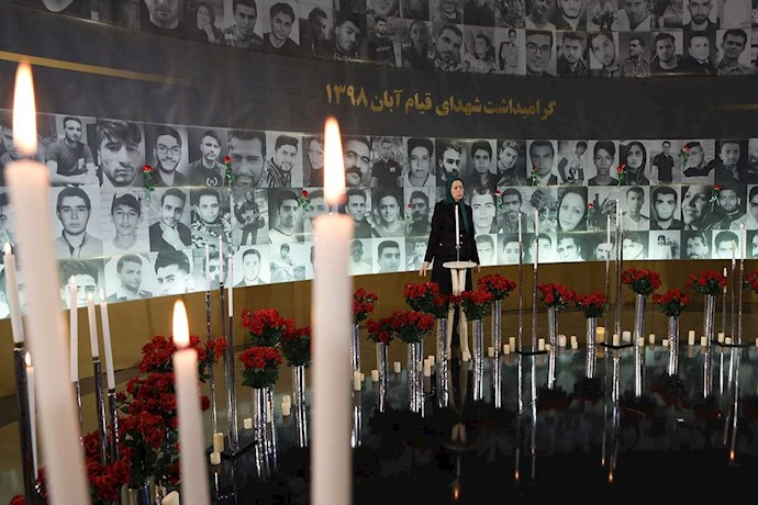 مریم رجوی - بزرگداشت چهلمین روز شهیدان قیام آبان در اشرف۳