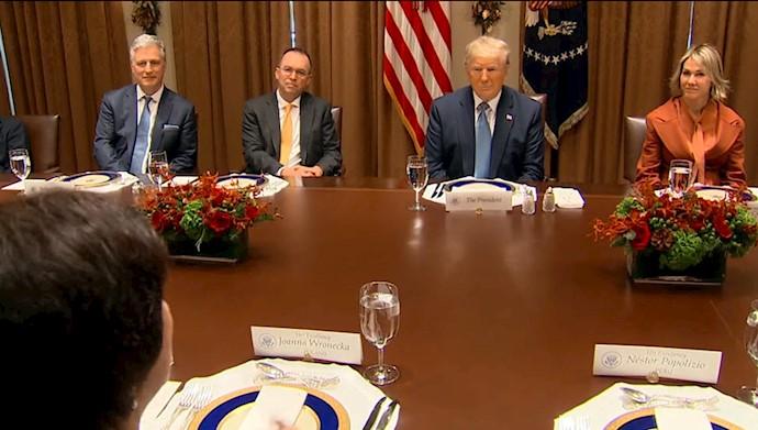 دونالد ترامپ در جمع نمایندگان دائم شورای امنیت ملل متحد