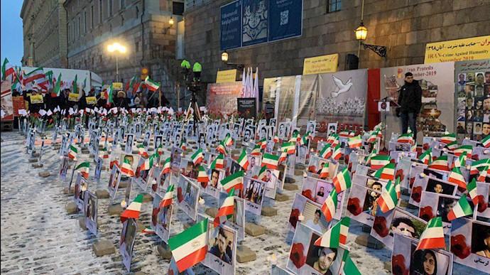 خروش ایرانیان آزاده و اشرف نشانها در استکهلم سوئد