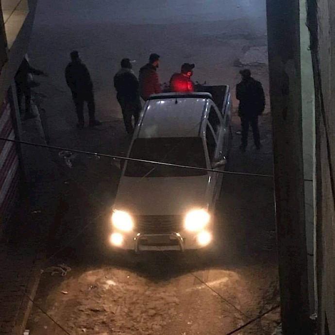 حمله مزدوران امنیتی خامنهای به جوانان انقلابی در خلانی و سنک بغداد