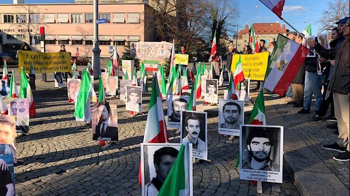 حمایت از قیام سراسری مردم ایران - سوئیس - برن