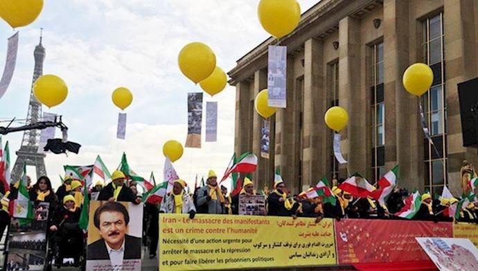 تظاهرات ایرانیان آزاده در پاریس