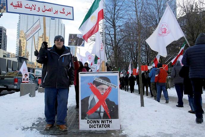 حمایت از قیام ایران و شهرهای شورشی در تورنتو