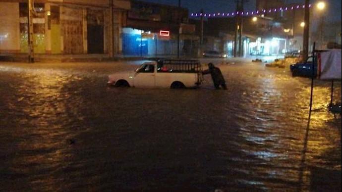 اهواز مرکز استان خوزستان غرق در آب