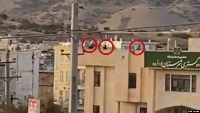 شلیک به تظاهراتکنندگان در جوانرود