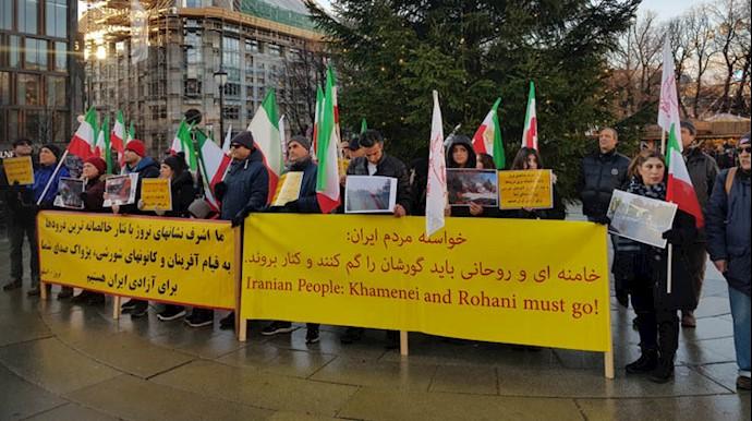 حمایت از قیام ایران و شهرهای شورشی در اسلو - نروژ