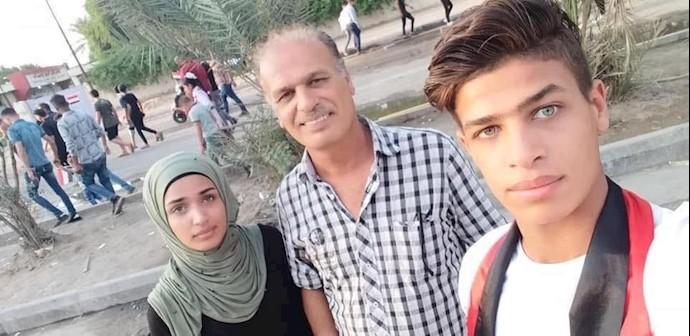شب گذشته علی نجم اللامی یکی از فعالان عراقی در منطقه الشعب پس از بازگشتش از میدان تحریر بغداد ترور شد