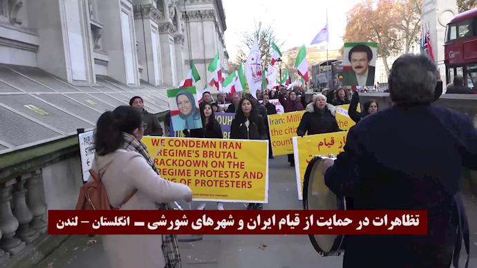 تظاهرات در لندن، همبستگی با قیام و کانونهای شورشی