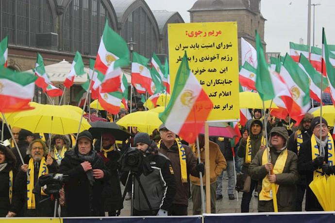 حمایت از قیام ایران و شهرهای شورشی در هامبورگ - آلمان