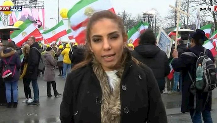تظاهرات ایرانیان در ورشو در حمایت از قیام مردم ایران