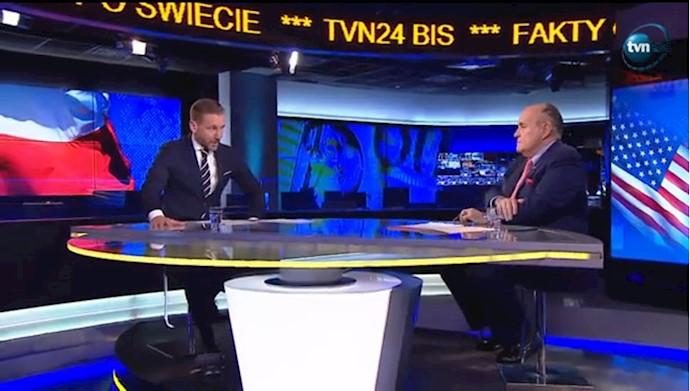 رودی جولیانی در مصاحبه با تلویزیون لهستان