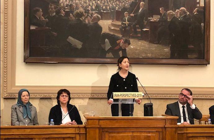 مجلس ملی فرانسه، جلسهیی در محکومیت تروریسم و نقض حقوق بشر در ایران با حضور مریم رجوی