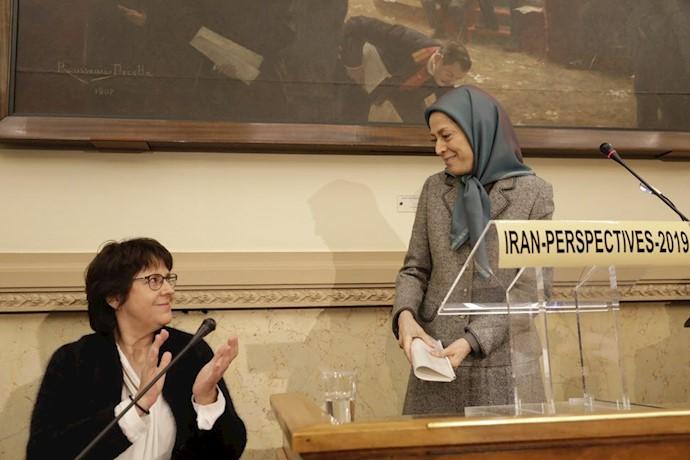 سخنرانی مریم رجوی در مجلس ملی فرانسه؛ محکومیت تروریسم و نقض حقوق بشر در ایران