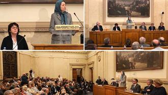 کنفرانس در مجلس ملی فرانسه، سخنرانی مریم رجوی