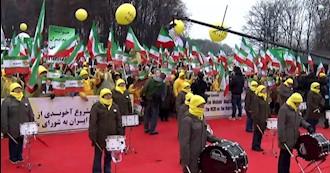 مظاهرات ومسيرات الإيرانيين الأحرار لدعم انتفاضة الشعب الإيراني ومعاقل الإنتفاضة في وارسو
