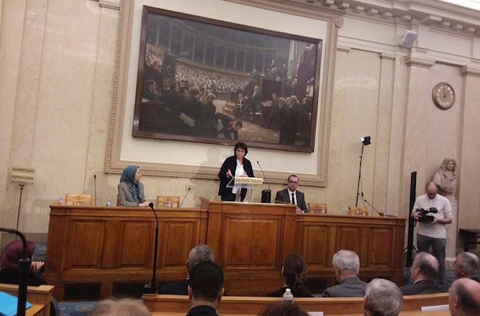 خانم «میشل دو ووکولور» رئیس کمیته پارلمانی برای ایران آزاد در مجلس ملی فرانسه