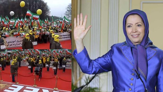 پیام مریم رجوی به تظاهرات ایرانیان آزاده در ورشو