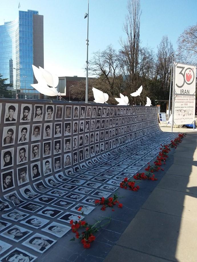 تظاهرات در ژنو -محکومیت قتلعام ۳۰هزار زندانی سیاسی در سال ۶۷