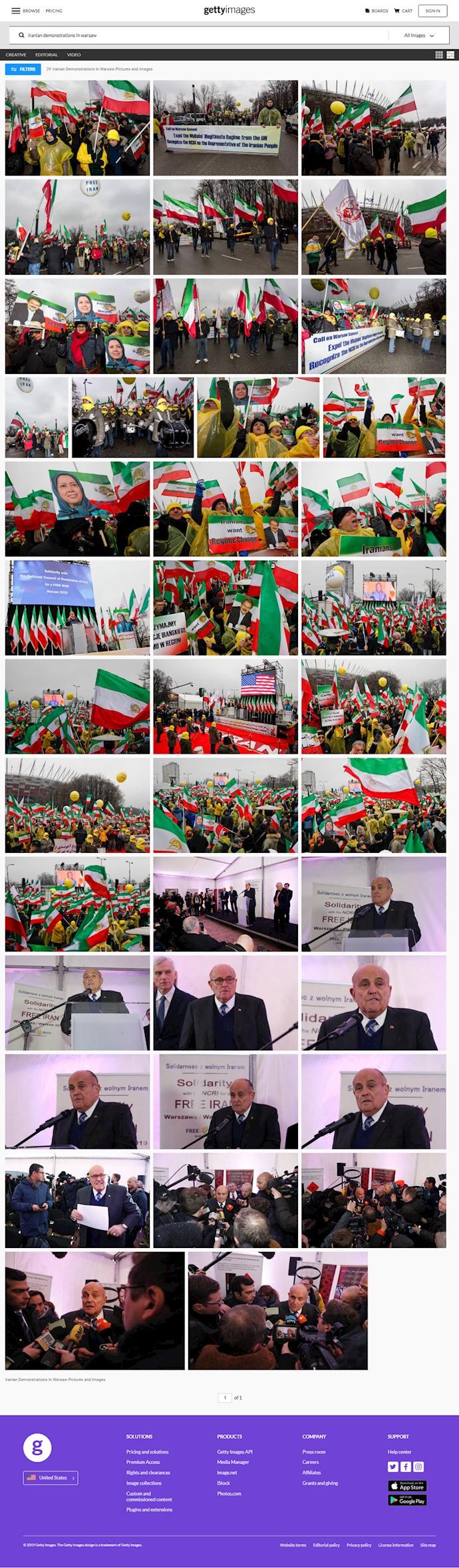 تظاهرات در ورشو - تصاویری از سایت تصویری گتی ایمیج