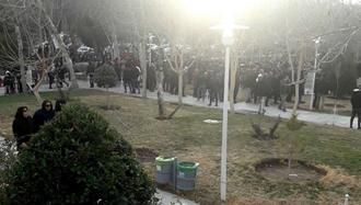 تجمع اعتراضی معلمان و فرهنگیان شجاع اصفهانی در جنوب سیوسهپل - ۱۸بهمن