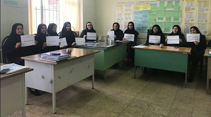 تحصن سراسری معلمان- جلفا- آذربایجان شرقی - ۱۲اسفند۹۷