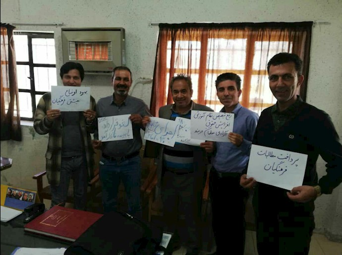 تحصن سراسری معلمان-دبیرستان ناحیه ۲- شیراز - ۱۲اسفند۹۷