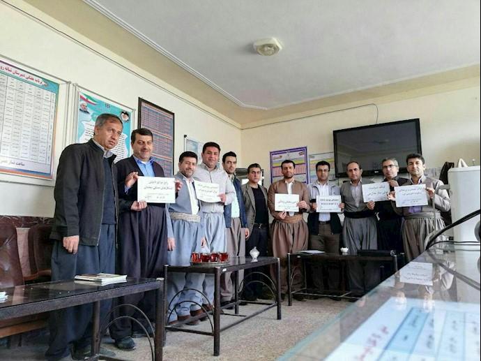 تحصن سراسری معلمان - دبیرستان غزالی- مریوان - تبریز - ۱۲اسفند۹۷