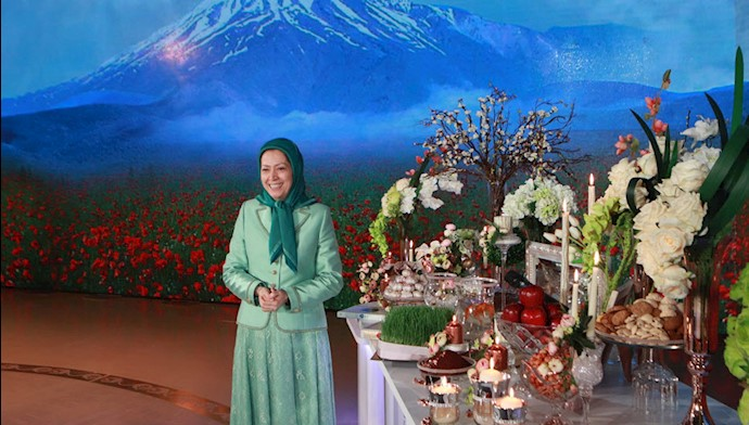 مراسم تحویل سال ۱۳۹۸ با حضور مریم رجوی