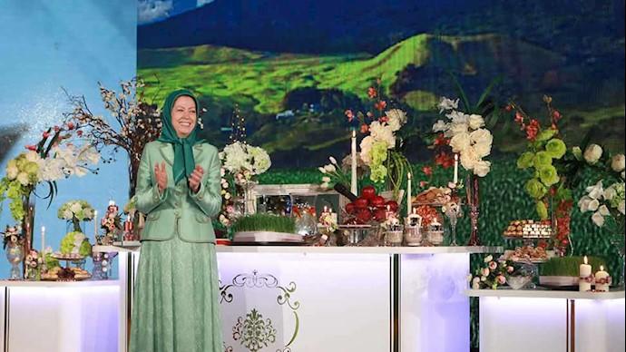 مریم رجوی در مراسم عید نوروز در اشرف ۳ - بهار ۱۳۹۸