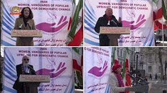 تظاهرات جوامع ایرانی در لندن به مناسبت روز جهانی زن ۱۸ اسفند۹۷