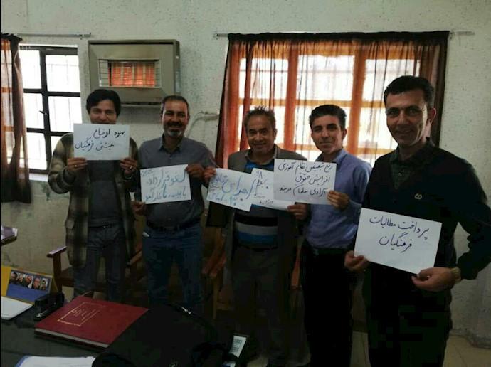 تحصن سراسری معلمان- اعتصاب معلمان و فرهنگیان دبیرستان ناحیه ۲، شیراز- ۱۲اسفند۹۷