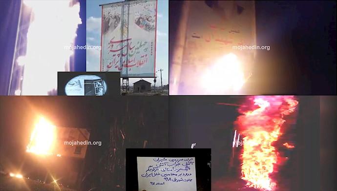 انهدام نمادهای رژیم آخوندی توسط کانونهای شورشی مجاهدین در ایران