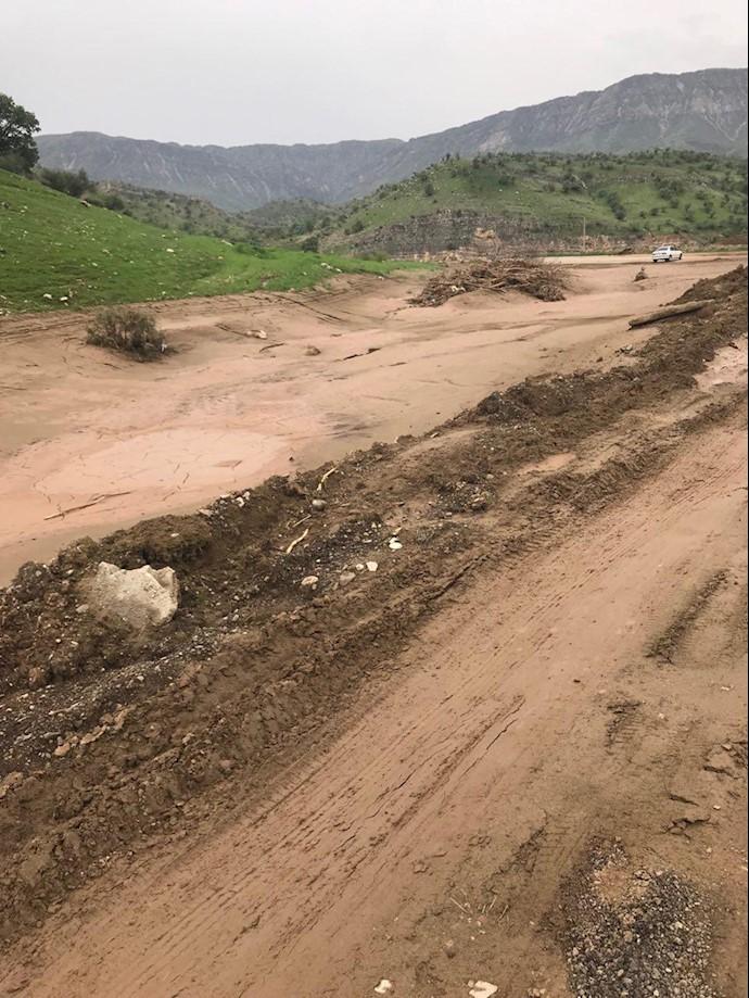 لرستان.. روستای چم حسین تنگ تیر بهطور کامل در اثر سیل محو شده است