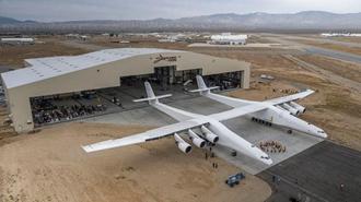 پرواز موفقیتآمیز عریض ترین هواپیمای جهان در اولین پرواز