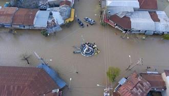 وضعیت سیلاب در ترکمن صحرا